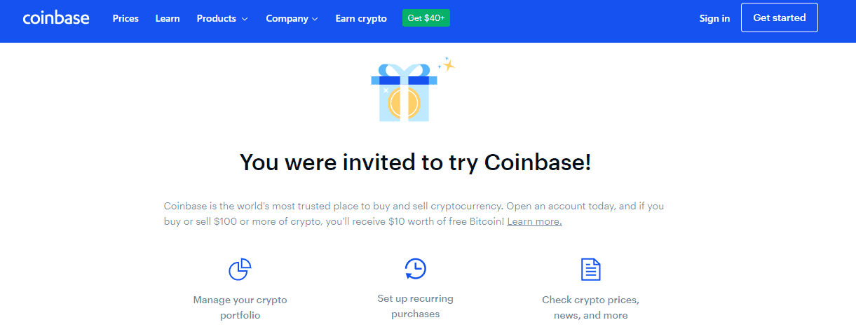you were invited to coinbase